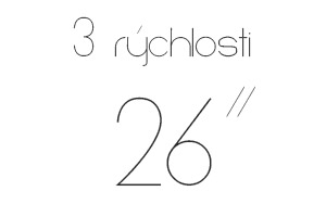 26″ 3 rýchlosti