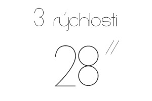 28″ 3 rýchlosti